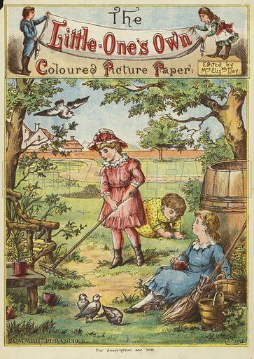 Summer pleasures. Illustration from The Little One's Own Coloured Picture Paper (Dean and Son, c1890).