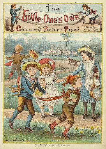 Miss Humble Bee. Illustration from The Little One's Own Coloured Picture Paper (Dean and Son, c1890).
