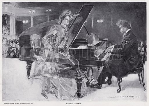 His Real Audience. Illustration from The Christy Album, by Howard Chandler Christy (Dean & Son, Ltd, London, c1906).