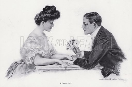 A Winning Hand. Illustration from The Christy Album, by Howard Chandler Christy (Dean & Son, Ltd, London, c1906).