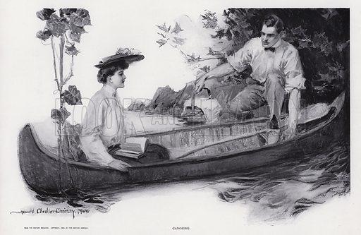 Canoeing. Illustration from The Christy Album, by Howard Chandler Christy (Dean & Son, Ltd, London, c1906).