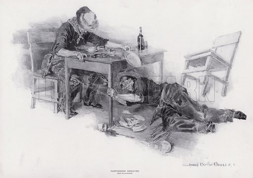 Parthnership Dissolved. Illustration from The Christy Album, by Howard Chandler Christy (Dean & Son, Ltd, London, c1906).