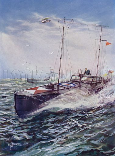 Royal Navy coastal motor boat. Illustration from The Wonder Book of the Navy, edited by Harry Golding (Ward Lock & Co, Ltd, London and Melbourne, c1929).