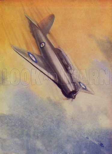 British Blackburn Skua dive bomber of the Fleet Air Arm. Illustration from The Wonder Book of the RAF, edited by Harry Golding (Ward, Lock & Co, Ltd, London and Melbourne, c1945).