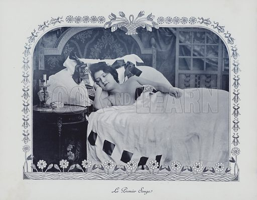 The first dream. Illustration from an unidentified album, c 1900.