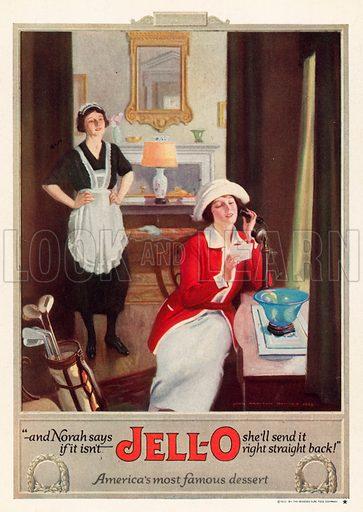 Advertisement for Jello desserts.