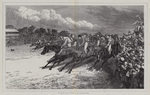 The Derby, Epsom, Surrey. Illustration from L'Univers Illustre, 11 June 1870.