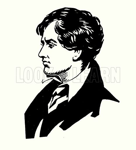 Portrait of Lord Byron. Illustration for A Day with Byron by M C Gillington (Hodder and Stoughton, c 1910).