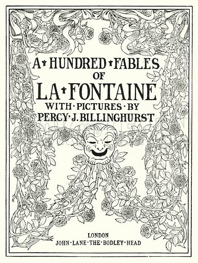 Title-page Illustration for A Hundred Fables of La Fontaine (John Lane, The Bodley Head, 3rd edn, c 1910).