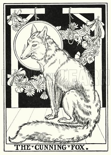 The cunning fox. Illustration for A Hundred Fables of La Fontaine (John Lane, The Bodley Head, 3rd edn, c 1910).