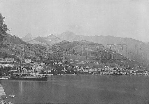 Vernex, Montreux. Illustration for Mon Voyage En Suisse (L Geisler, c 1895).