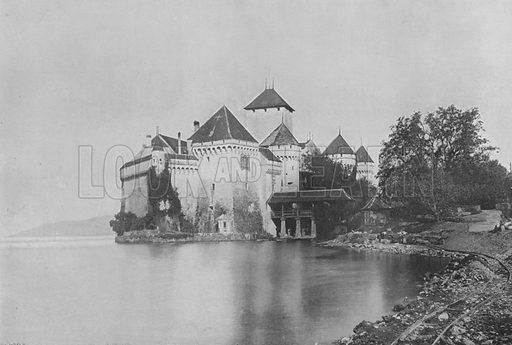 Le Chateau de Chillon. Illustration for Mon Voyage En Suisse (L Geisler, c 1895).