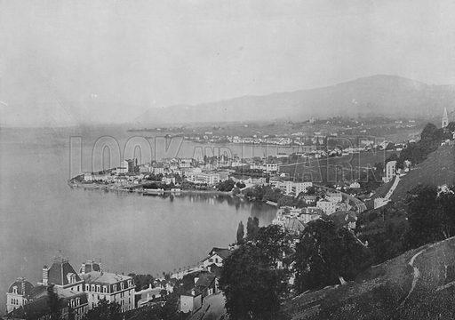 Territet, Montreux, Clarens. Illustration for Mon Voyage En Suisse (L Geisler, c 1895).