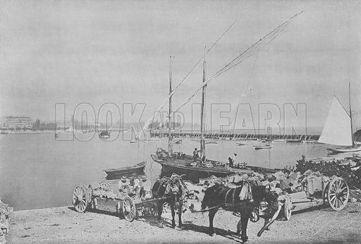 Geneve, Le Port. Illustration for Mon Voyage En Suisse (L Geisler, c 1895).