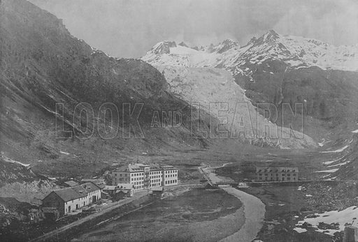 Le Glacier du Rhone. Illustration for Mon Voyage En Suisse (L Geisler, c 1895).