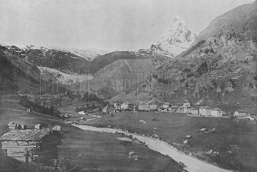 Zermatt et le Mont-Cervin. Illustration for Mon Voyage En Suisse (L Geisler, c 1895).