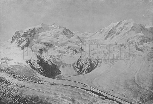 Le Mont-Rose. Illustration for Mon Voyage En Suisse (L Geisler, c 1895).