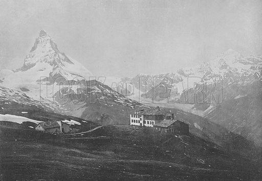 Ryffelberg, Mont-Cervin et Dent-Blanche. Illustration for Mon Voyage En Suisse (L Geisler, c 1895).