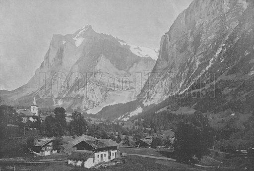 Grindelwald, Le Wetterhorn. Illustration for Mon Voyage En Suisse (L Geisler, c 1895).
