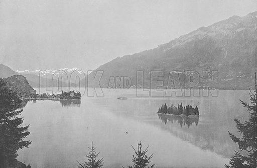 Iseltwald, Lac de Brienz. Illustration for Mon Voyage En Suisse (L Geisler, c 1895).