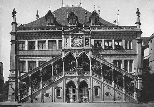 Berne, L'Hotel-de-Ville. Illustration for Mon Voyage En Suisse (L Geisler, c 1895).