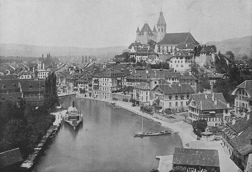 Thoune, Vue Generale. Illustration for Mon Voyage En Suisse (L Geisler, c 1895).