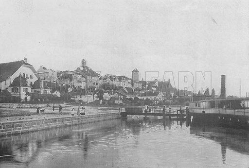 Morat. Illustration for Mon Voyage En Suisse (L Geisler, c 1895).