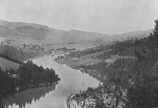 Le Bassin du Doubs aux Brenets. Illustration for Mon Voyage En Suisse (L Geisler, c 1895).