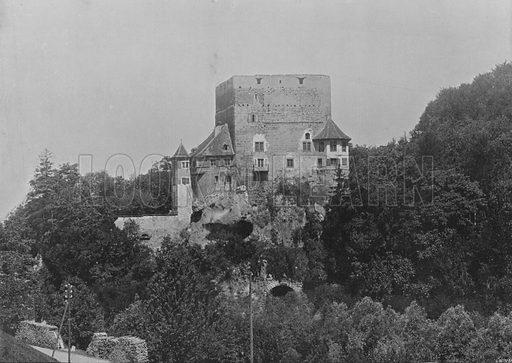 Chateau d'Angenstein. Illustration for Mon Voyage En Suisse (L Geisler, c 1895).