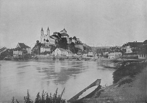 Aarbourg. Illustration for Mon Voyage En Suisse (L Geisler, c 1895).
