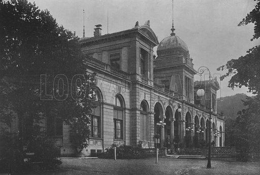 Baden, Le Kursaal. Illustration for Mon Voyage En Suisse (L Geisler, c 1895).