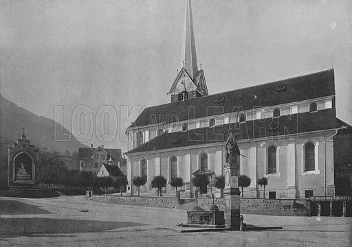 Stans, L'Eglise. Illustration for Mon Voyage En Suisse (L Geisler, c 1895).