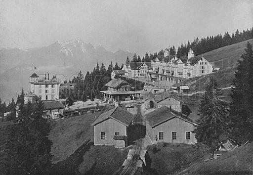 Righi-Kaltbad. Illustration for Mon Voyage En Suisse (L Geisler, c 1895).