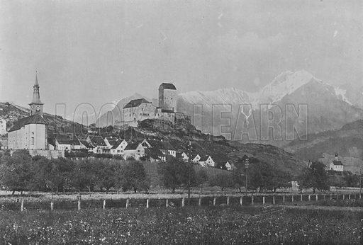 Sargans, Vallee du Rhin. Illustration for Mon Voyage En Suisse (L Geisler, c 1895).