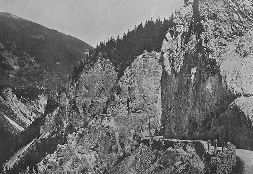 Route de Versam. Illustration for Mon Voyage En Suisse (L Geisler, c 1895).