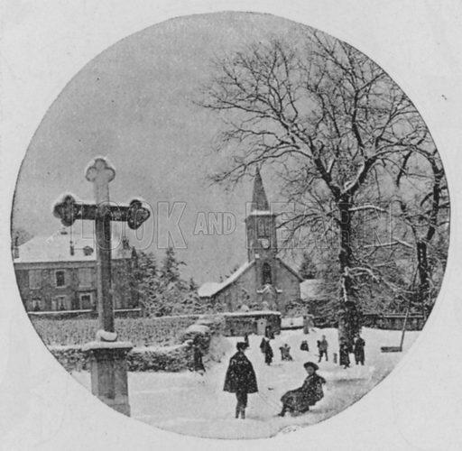Petit-Saconnex pres Geneve. Illustration for Mon Voyage En Suisse (L Geisler, c 1895).
