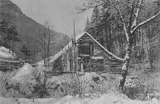 Paysage d'hiver dans le Jura Neuchatelois. Illustration for Mon Voyage En Suisse (L Geisler, c 1895).