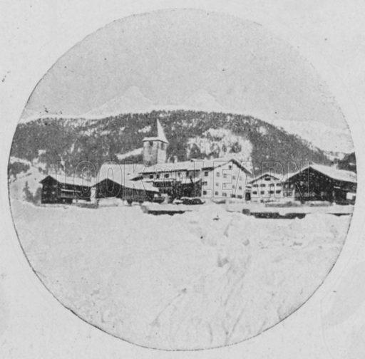 Klosters, Grisons. Illustration for Mon Voyage En Suisse (L Geisler, c 1895).