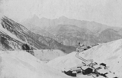 Wiesen pres Davos. Illustration for Mon Voyage En Suisse (L Geisler, c 1895).