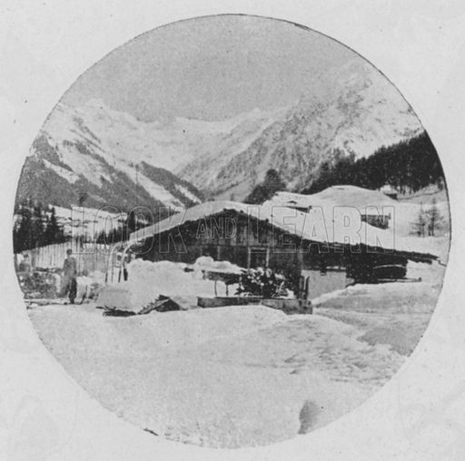 A Klosters, Grisons. Illustration for Mon Voyage En Suisse (L Geisler, c 1895).