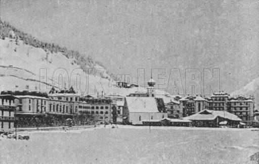Davos-Dorf. Illustration for Mon Voyage En Suisse (L Geisler, c 1895).