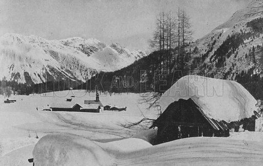 Laret pres Davos. Illustration for Mon Voyage En Suisse (L Geisler, c 1895).