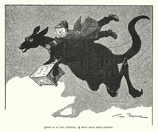 Quick as it was, though, it must have been quicker. Illustration for The World That Never Was, A London Fantasy by A St John Adcock (Francis Griffiths, 1908).