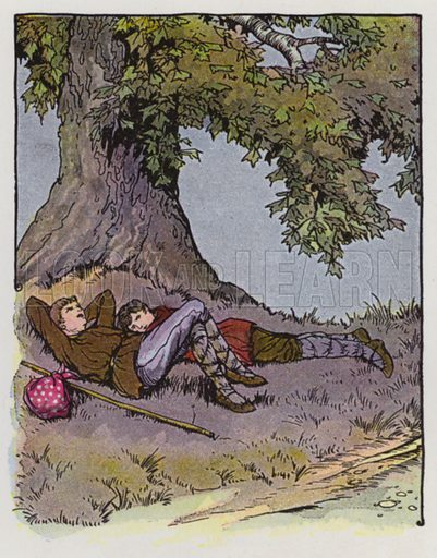 The Plane Tree. Illustration for The Aesop for Children with pictures by Milo Winter (Rand McNally, 1919).