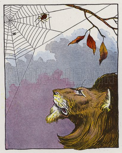 The Lion and the Gnat. Illustration for The Aesop for Children with pictures by Milo Winter (Rand McNally, 1919).