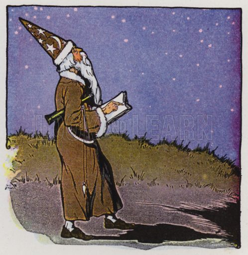 The Astrologer. Illustration for The Aesop for Children with pictures by Milo Winter (Rand McNally, 1919).
