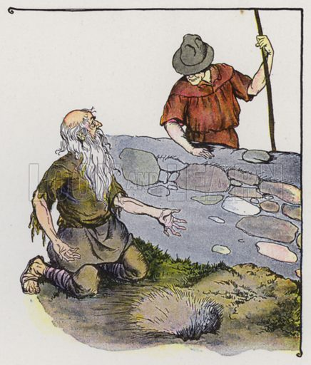 The Miser. Illustration for The Aesop for Children with pictures by Milo Winter (Rand McNally, 1919).