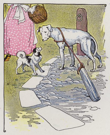 The Mischievous Dog. Illustration for The Aesop for Children with pictures by Milo Winter (Rand McNally, 1919).