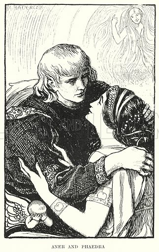 Aner and Phaedra. Illustration for Allegories by Frederic W Farrar with illustrations by Amelia Bauerle (Longmans Green, 1898).