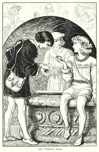 The wishing well. Illustration for Allegories by Frederic W Farrar with illustrations by Amelia Bauerle (Longmans Green, 1898).